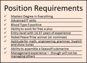Position Requirements
